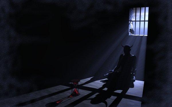 Oscuro Demonio Negro Devil Horns Cuervo Fondo de pantalla HD | Fondo de Escritorio