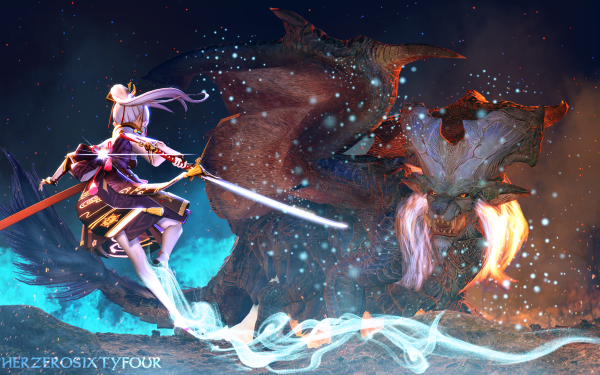Video Game Genshin Impact Kamisato Ayaka HD Wallpaper   Background Image
