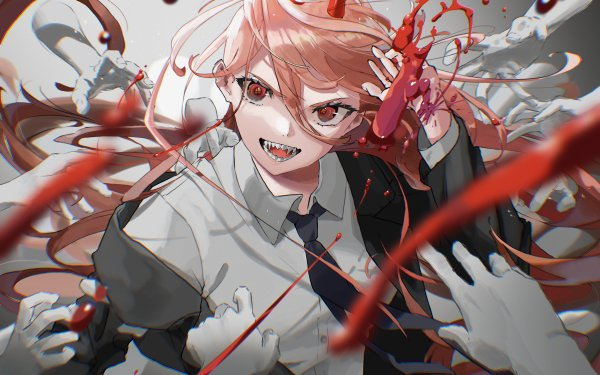 Anime Chainsaw Man Power HD Wallpaper   Background Image