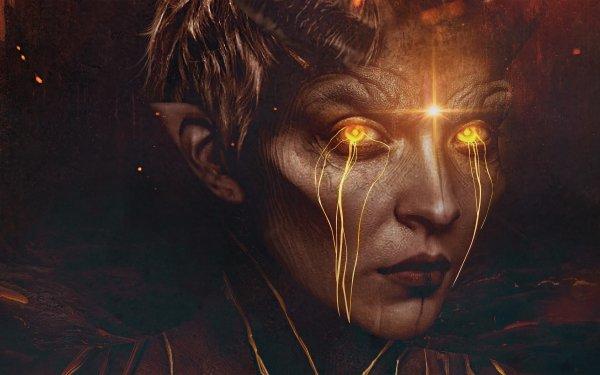 Dark Demon Face HD Wallpaper | Background Image