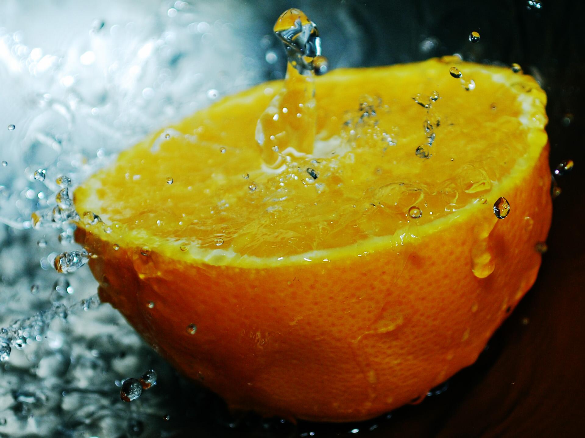 Food - Orange  Fruit Orange (fruit) Water Wallpaper