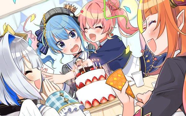 Anime Virtual Youtuber Amane Kanata Kiryu Coco Anemachi Suisei Hoshimachi Hololive HD Wallpaper   Background Image