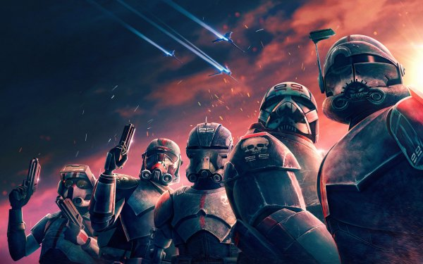 TV Show Star Wars: The Bad Batch Hunter Wrecker Echo Crosshair Tech HD Wallpaper | Background Image