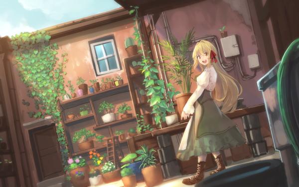 Anime Girl Long Hair Blonde HD Wallpaper   Background Image