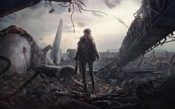 Sci Fi Post Apocalyptic Woman HD Wallpaper   Background Image