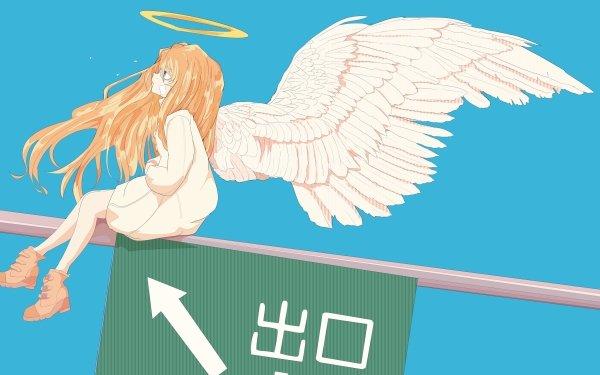 Anime Toradora! Taiga Aisaka Brown Hair Blue Eyes Angel Long Hair Wings HD Wallpaper | Background Image