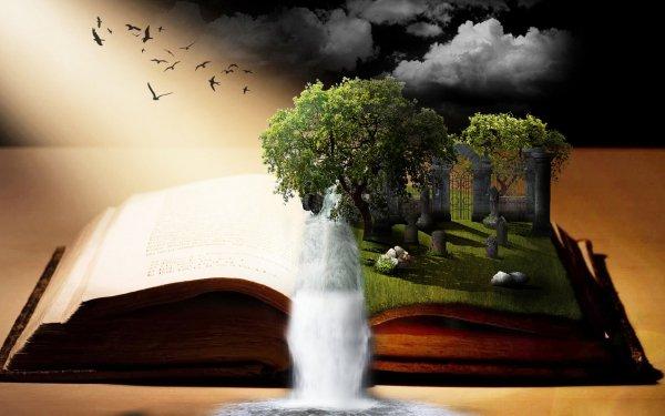 Fantaisie Book Imagination Fond d'écran HD   Arrière-Plan