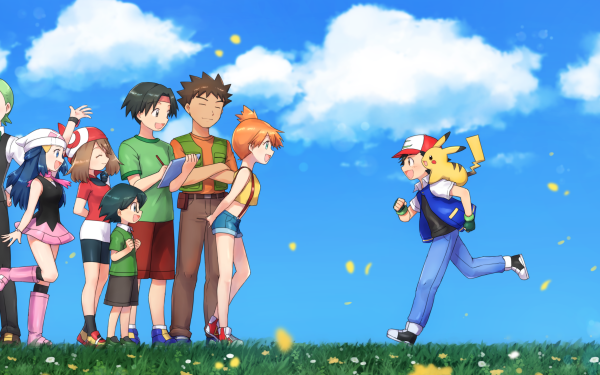 Anime Pokémon The Movie: I Choose You! Pokémon Ash Ketchum Pikachu May Max Dawn Serena Verity Piplup Iris Brock Misty Clemont Bonnie Chico Chica Tracey Cilan Sorrel Fondo de pantalla HD | Fondo de Escritorio
