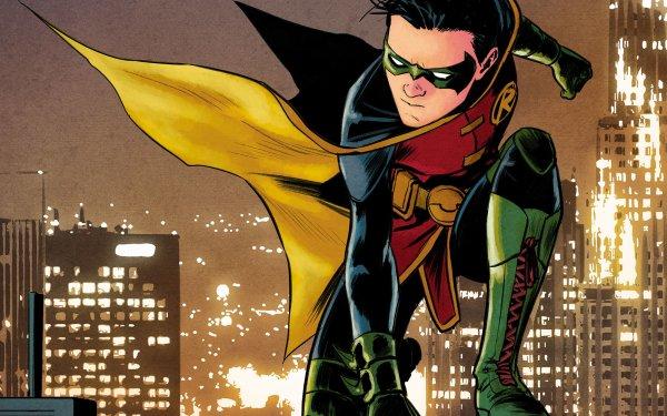Comics Robin Damian Wayne DC Comics Gotham City Cape HD Wallpaper   Background Image