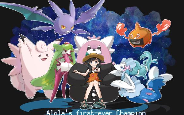 Video Game Pokémon Ultra Sun and Ultra Moon Pokémon Tsareena Bewear Crobat Primarina Selene Pokeball Clefable Rotom HD Wallpaper | Background Image