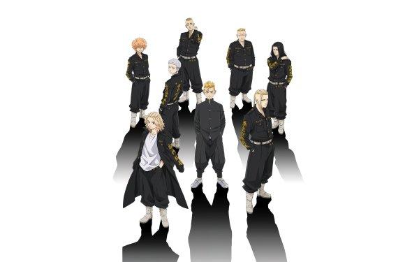 Anime Tokyo Revengers Mikey Manjiro Sano Ken Ryuguji Keisuke Baji Chifuyu Matsuno Haruki Hayashida HD Wallpaper | Background Image