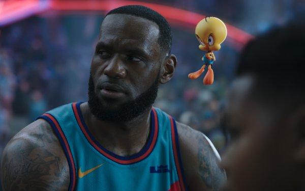 Movie Space Jam 2 Looney Tunes LeBron James Tweety HD Wallpaper | Background Image