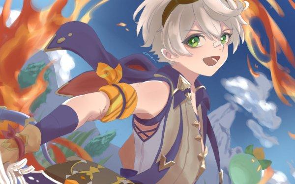 Video Game Genshin Impact Bennett Green Eyes Goggles HD Wallpaper | Background Image