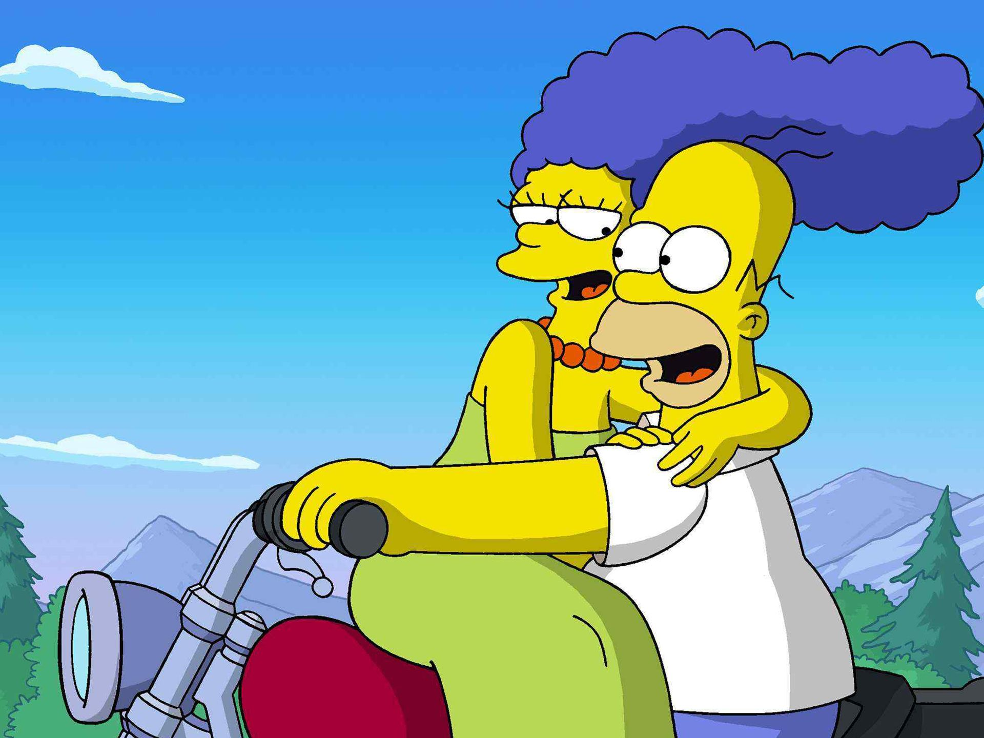 TV Show - The Simpsons  Homer Simpson Marge Simpson Wallpaper
