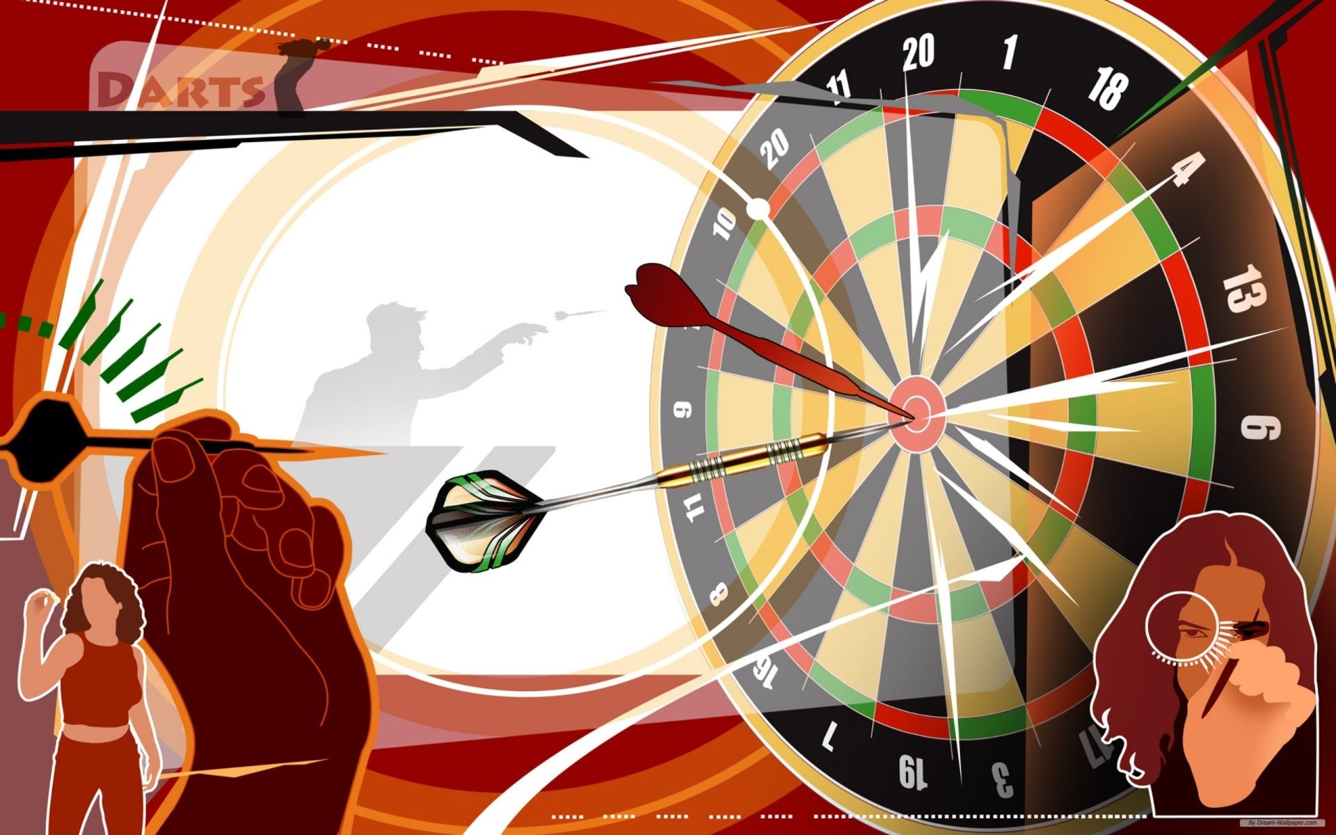 Game - Darts  Wallpaper