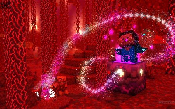 Videojuego Minecraft Nether Steve Fondo de pantalla HD | Fondo de Escritorio