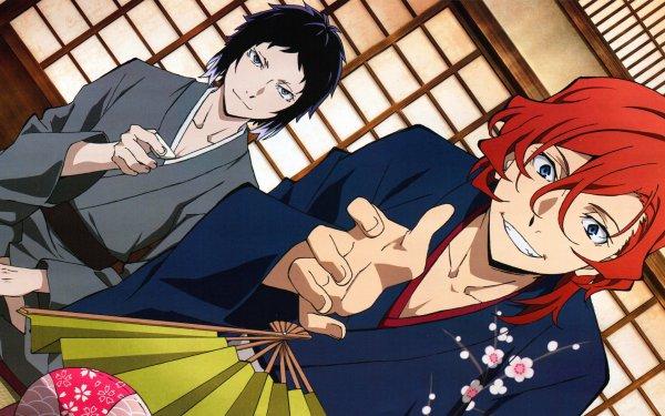 Anime Bungou Stray Dogs Ryūnosuke Akutagawa Chuuya Nakahara HD Wallpaper | Background Image
