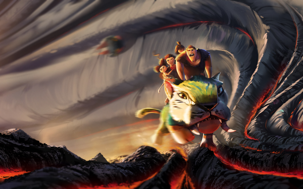Movie The Croods: A New Age Grug Sandy Ugga HD Wallpaper | Background Image