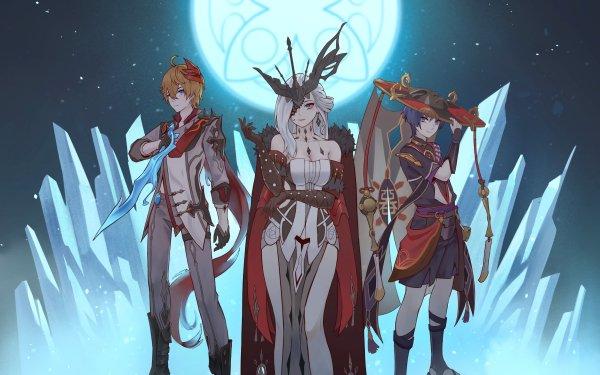Video Game Genshin Impact Tartaglia Childe Scaramouche La Signora HD Wallpaper | Background Image