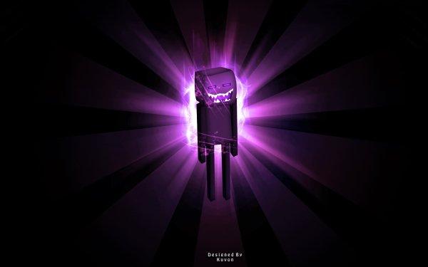 Video Game Minecraft Enderman HD Wallpaper | Background Image