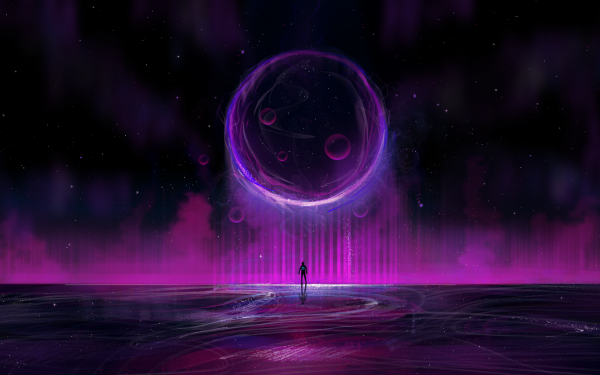 Artistic Space Purple Planet HD Wallpaper | Background Image