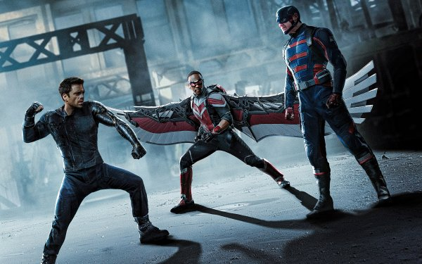 TV Show The Falcon and the Winter Soldier Sebastian Stan Winter Soldier Falcon Anthony Mackie Sam Wilson Bucky Barnes John Walker Captain America Wyatt Russell HD Wallpaper | Background Image