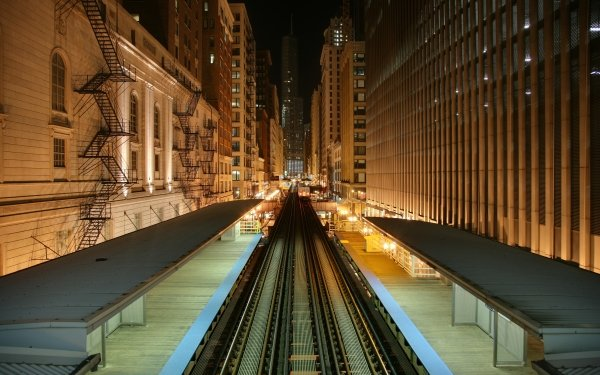 Man Made Train Station Chicago Railroad HD Wallpaper   Background Image