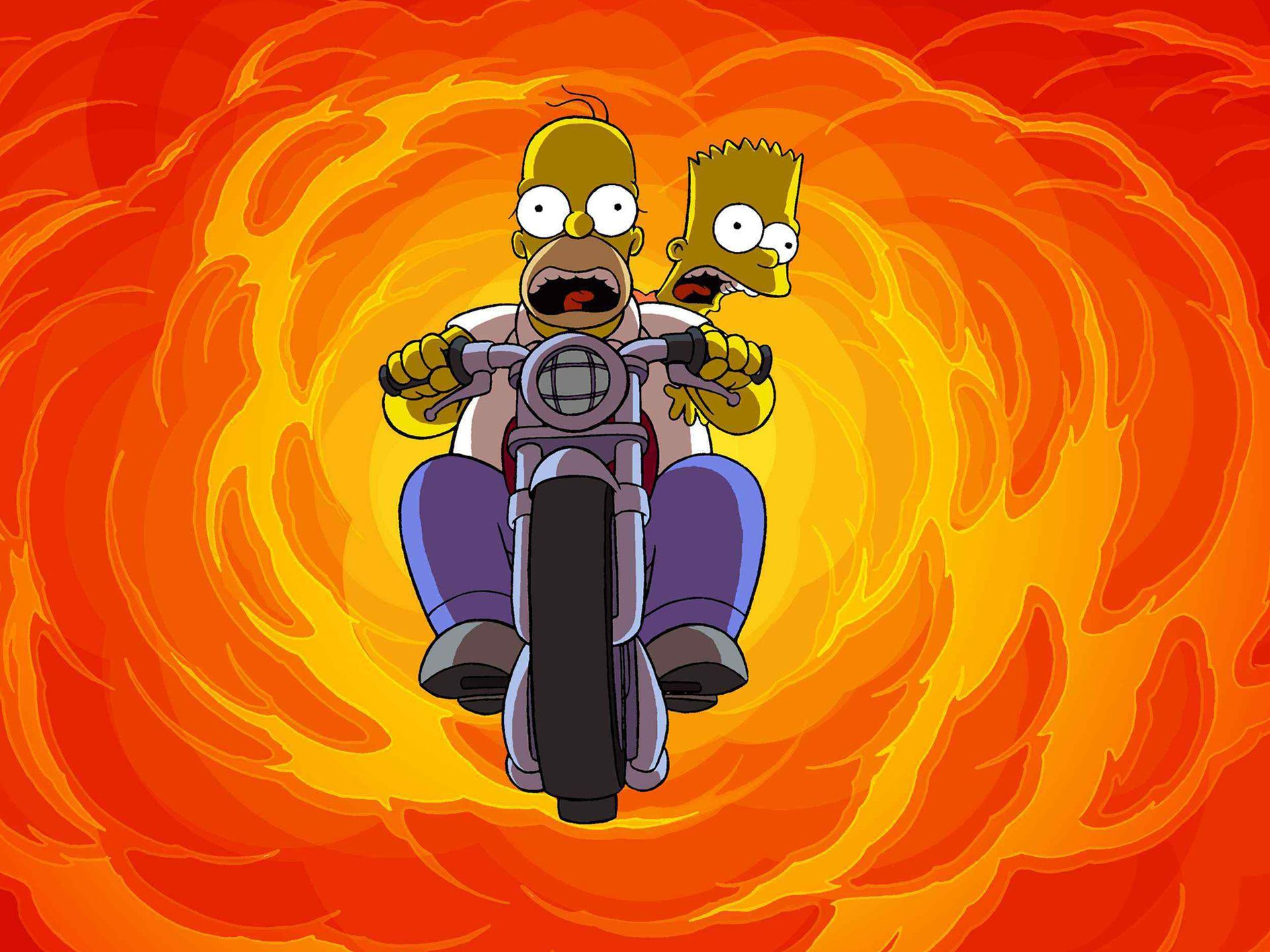 TV Show - The Simpsons  Bart Simpson Homer Simpson Wallpaper