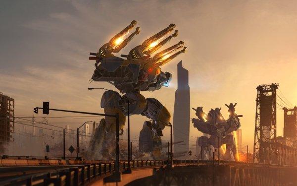 Sci Fi Mech Mecha Robot HD Wallpaper | Background Image