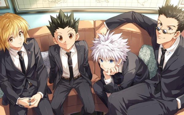 Anime Hunter x Hunter Leorio Paradinight Kurapika Gon Freecss Killua Zoldyck Fondo de pantalla HD | Fondo de Escritorio