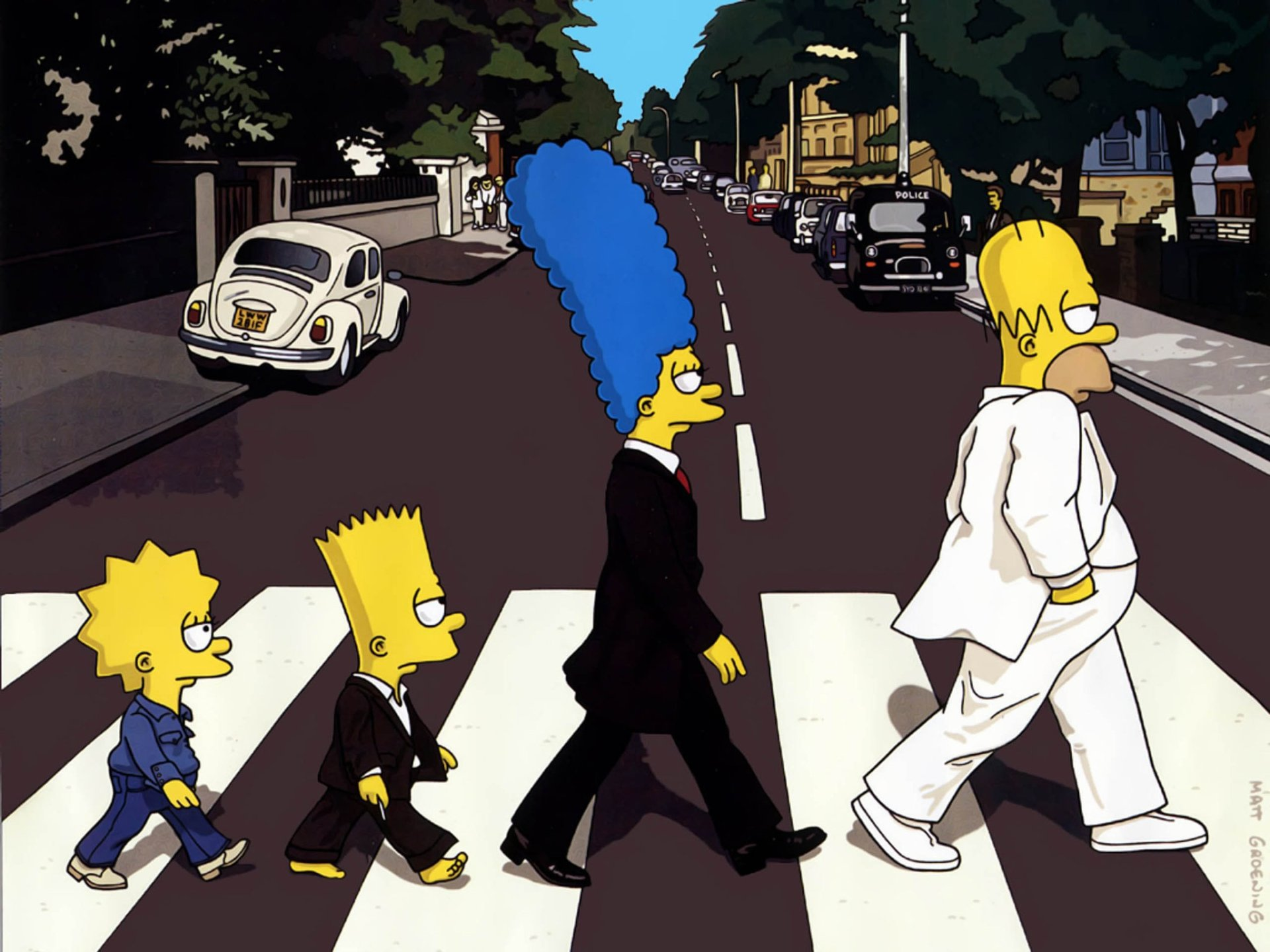 TV Show - The Simpsons  Lisa Simpson Bart Simpson Marge Simpson Homer Simpson Wallpaper