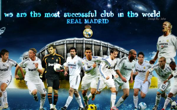 Sports Real Madrid C.F. Soccer Club Raúl González Blanco Iker Casillas Cristiano Ronaldo Zinedine Zidane David Beckham Mesut Özil Kaká HD Wallpaper | Background Image