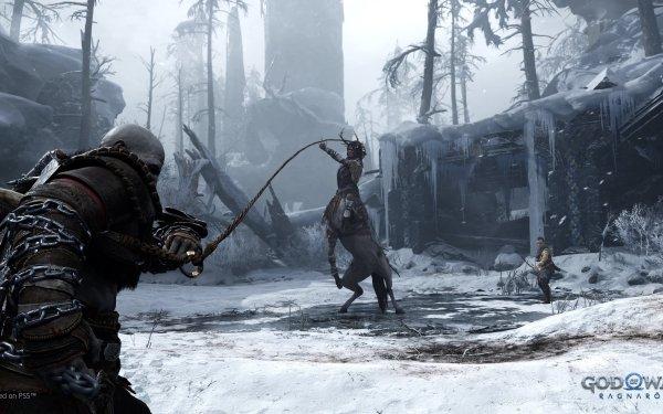 Video Game God of War: Ragnarök Kratos Atreus HD Wallpaper | Background Image