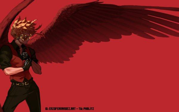 Anime My Hero Academia Hawks Wings HD Wallpaper | Background Image