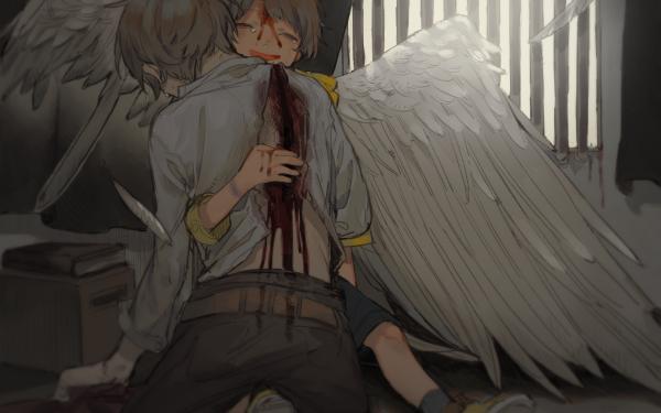 Anime Boy Angel Death HD Wallpaper   Background Image