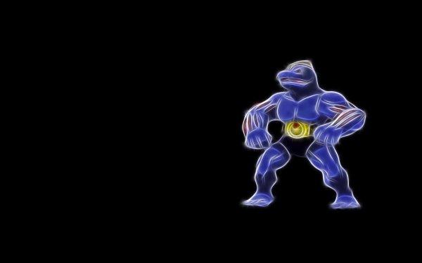 Anime Pokémon Machoke Fighting Pokémon HD Wallpaper | Background Image