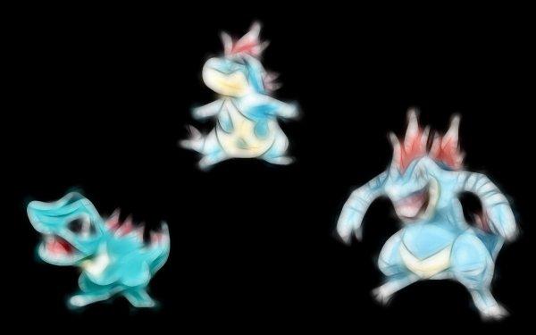 Anime Pokémon Totodile Croconaw Feraligatr Water Pokémon Fondo de pantalla HD | Fondo de Escritorio