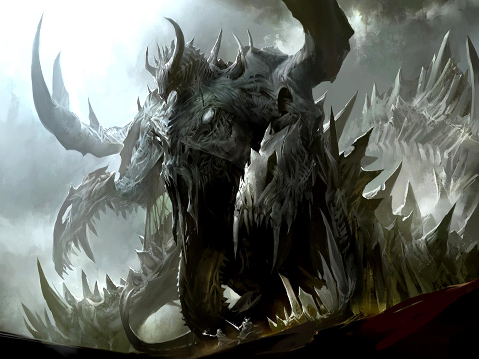 Fantasy - Dragon  Deadly Monster Wallpaper