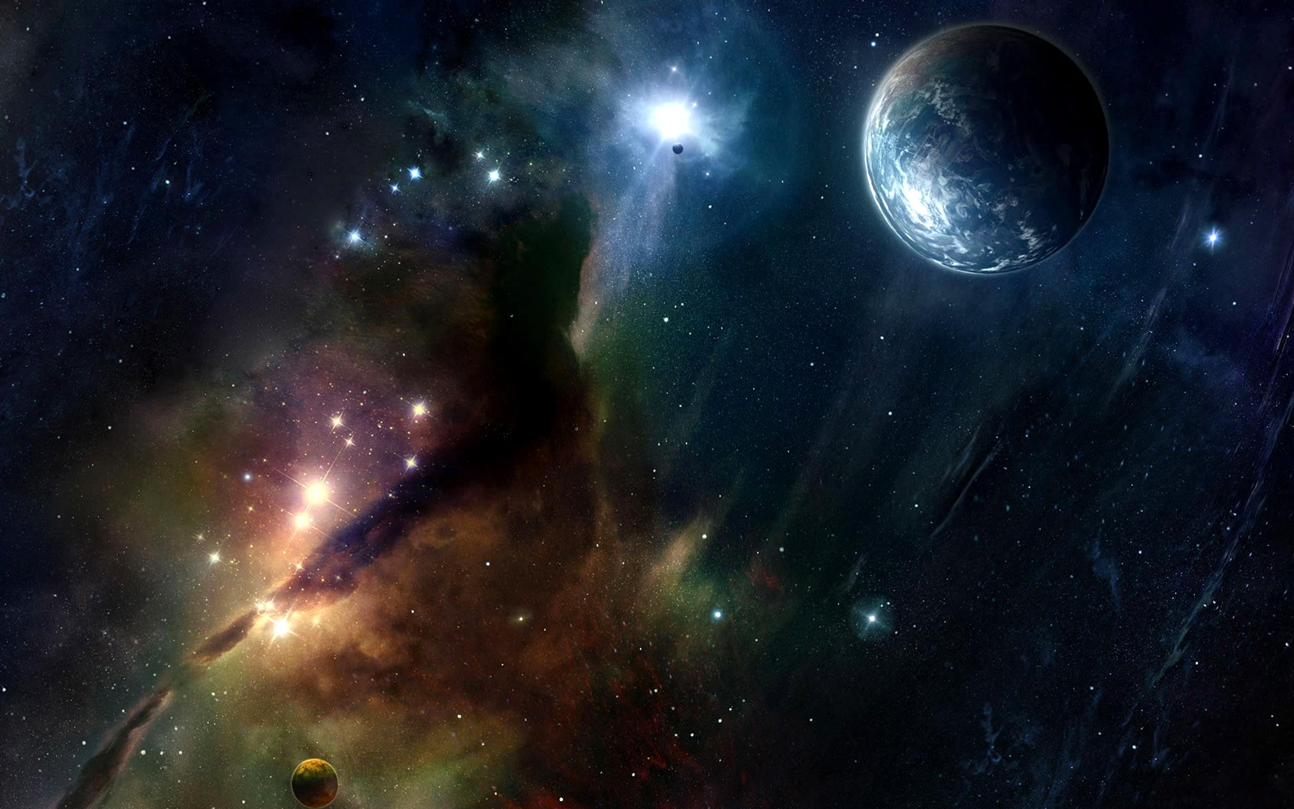 Science Fiction - Espace  Nébuleuse Gases Planet Stars Science Fiction Fond d'écran