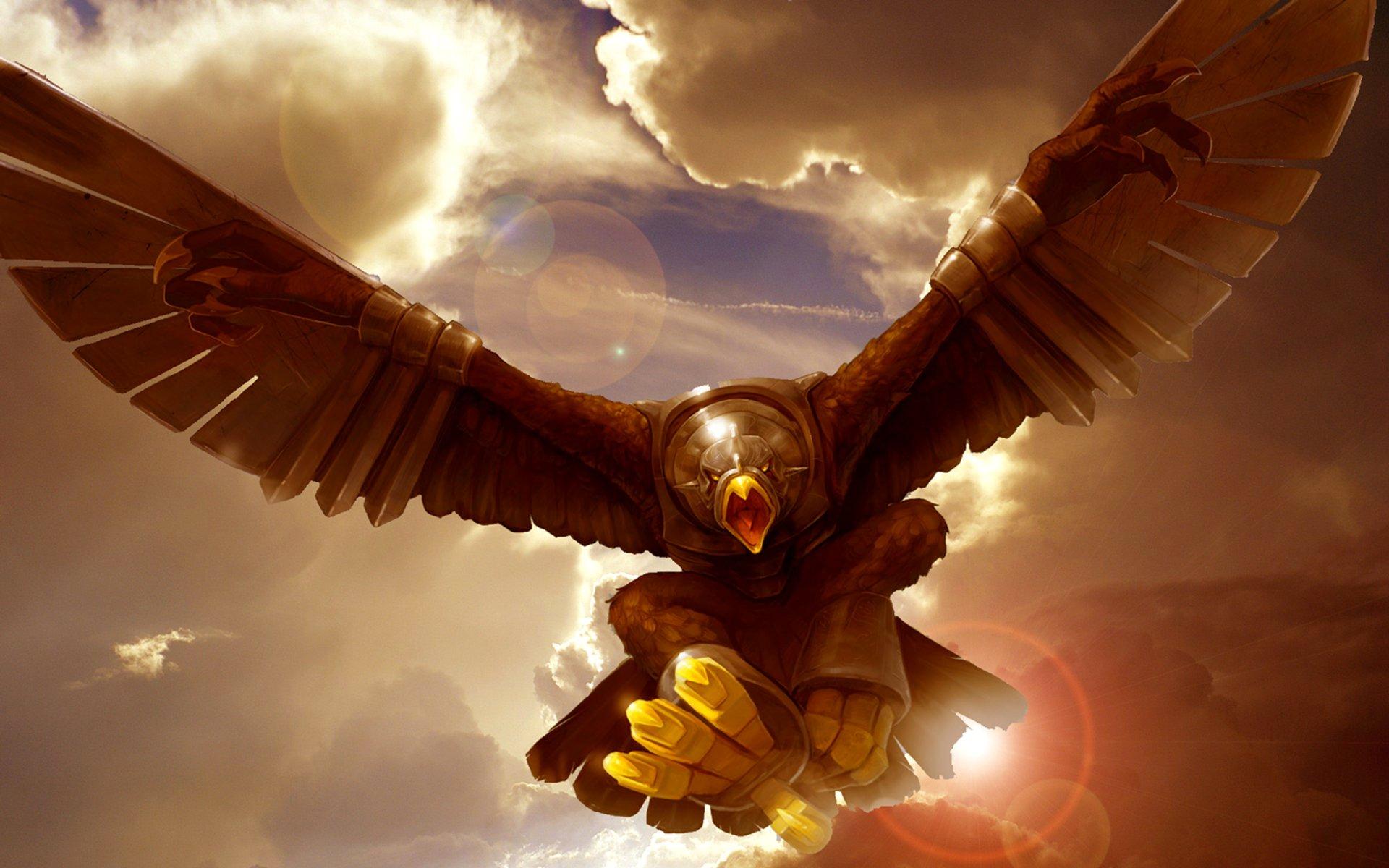 Fantaisie - Oiseau  Gryphon Fond d'écran