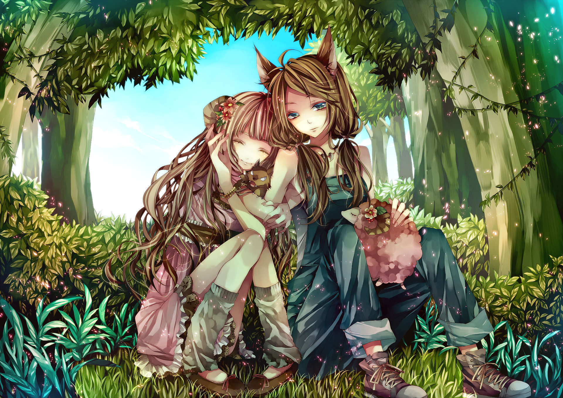 Anime - Flicka  Original (Anime) Bakgrund