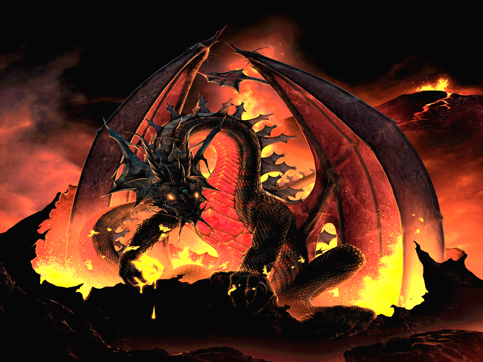 The Great Death Wyrm Wallpaper and Background | 1600x1200 ...