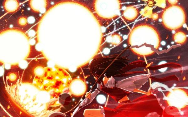 Anime Touhou Reimu Hakurei Utsuho Reiuji HD Wallpaper | Background Image