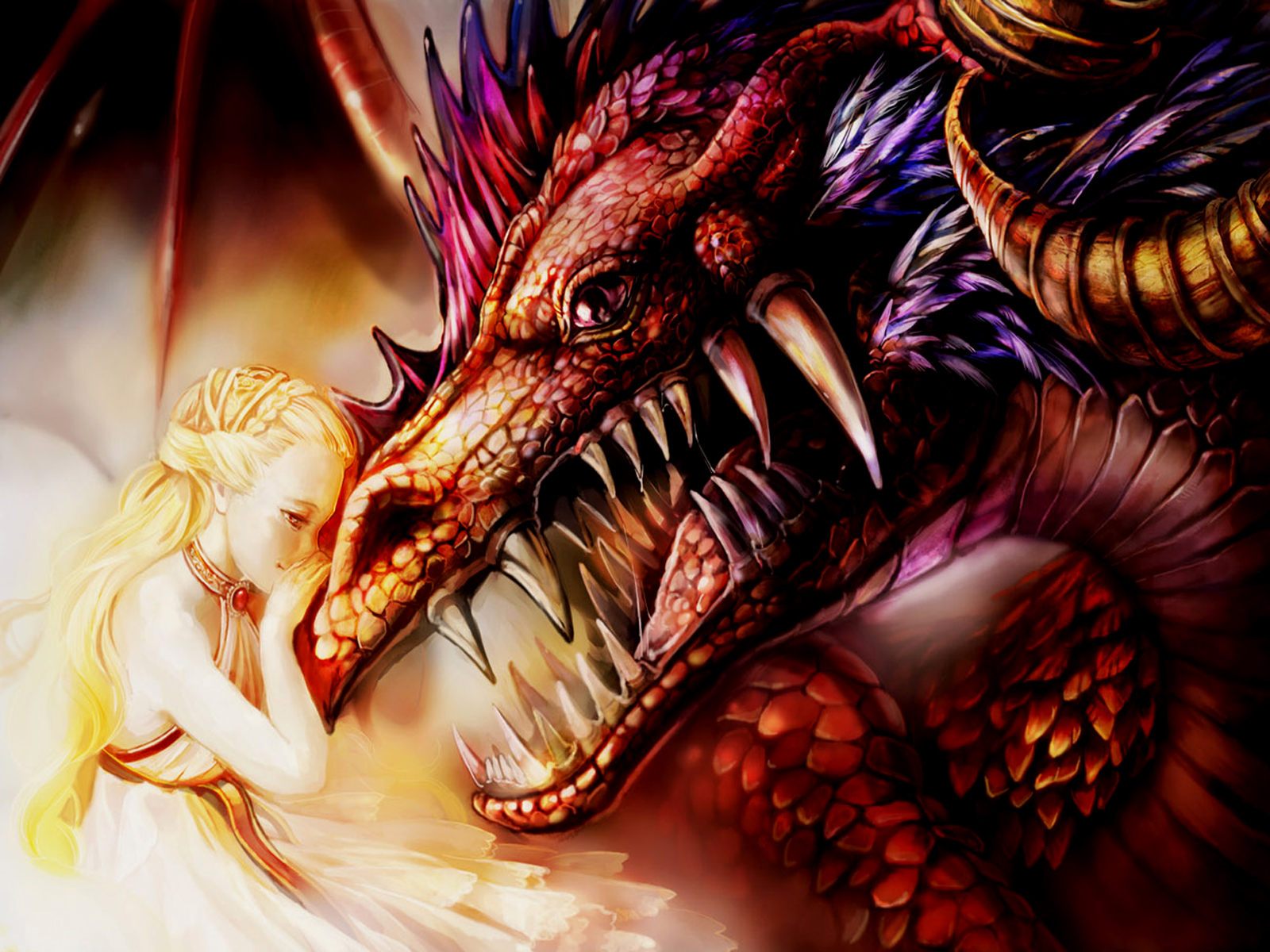 The Dragon And The Princess Wallpaper And Background