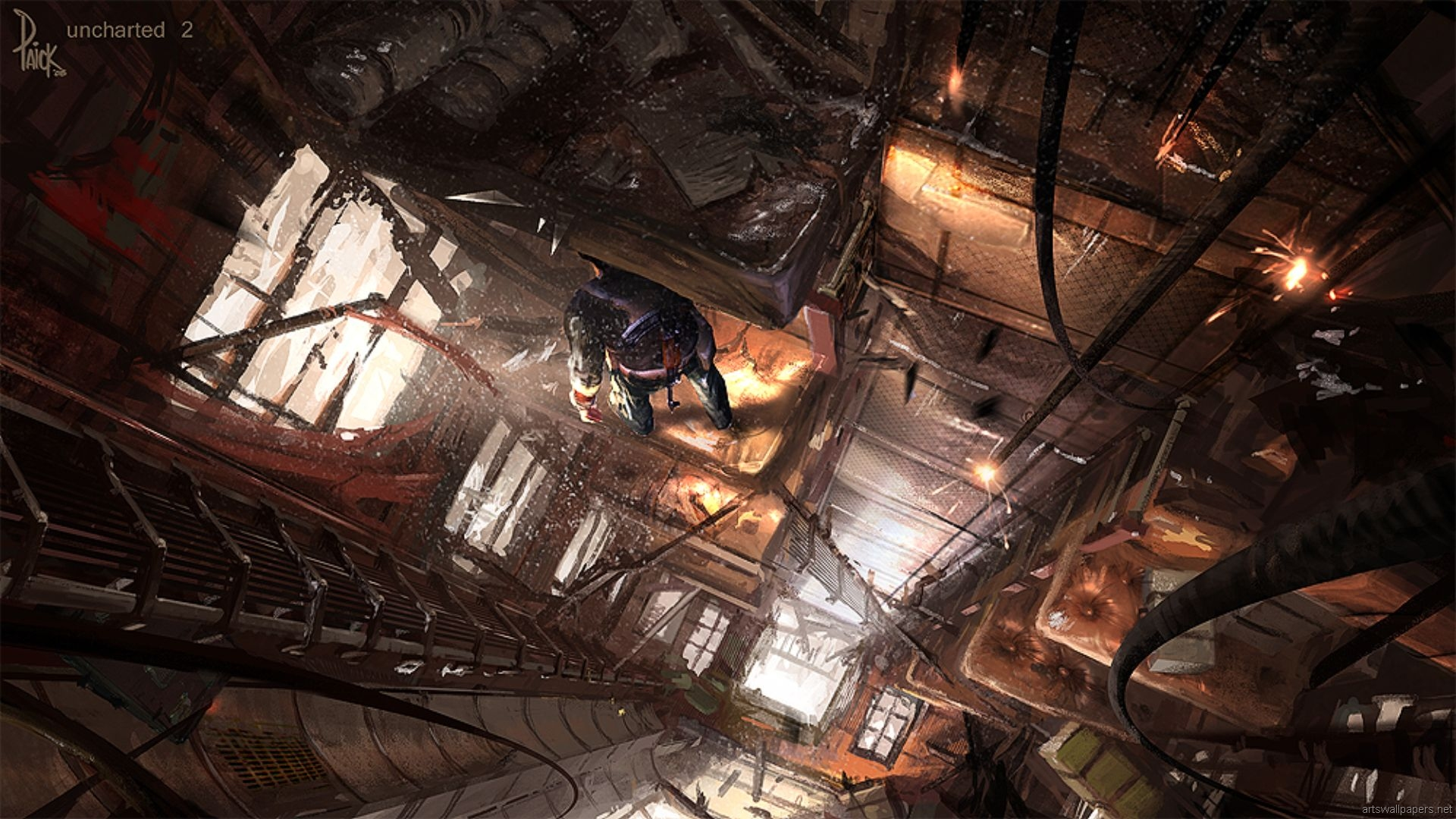 Uncharted 2 Among Thieves Full HD Wallpaper And Background Image