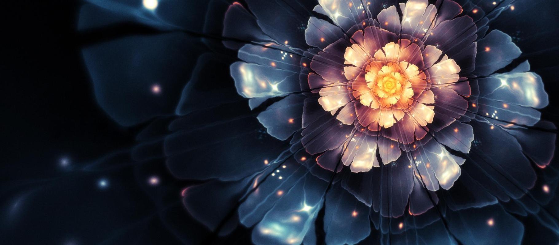 Computer-generierte Bilder - Blumen  Hintergrundbild