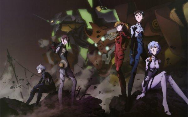 Anime Evangelion: 2.0 You Can (Not) Advance Evangelion Neon Genesis Evangelion Shinji Ikari Asuka Langley Sohryu Rei Ayanami Mari Makinami Illustrious Kaworu Nagisa Fondo de pantalla HD | Fondo de Escritorio