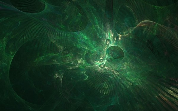 Abstract Green Colors Pattern Fractal HD Wallpaper   Background Image