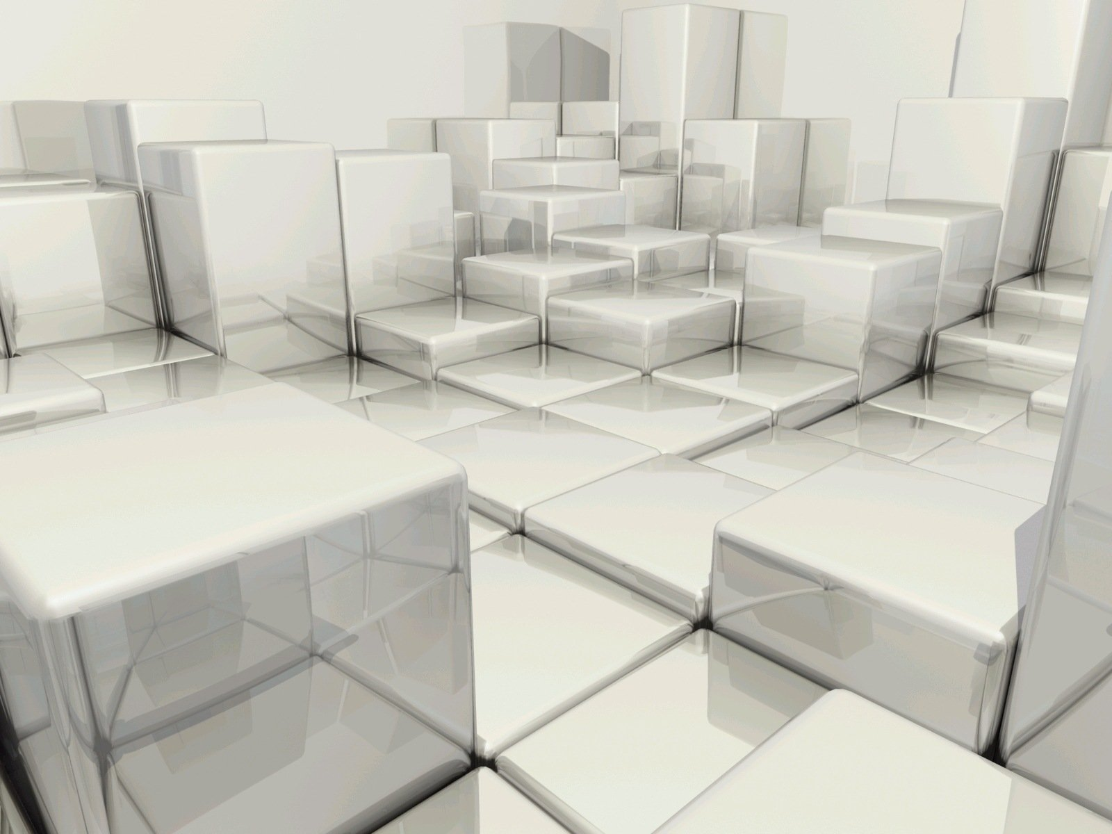 CGI - Cube  Abstract Digital CGI 3D Room Wallpaper