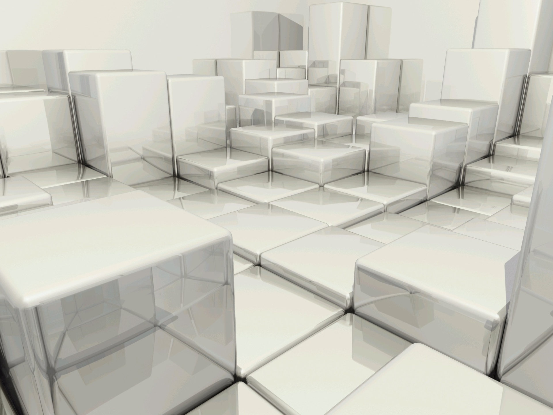 Abstract - Cube  Abstract Digital Art CGI 3D Wallpaper